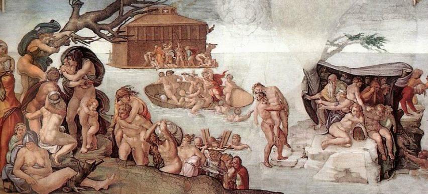 Diluvio universale - particolare Cappella Sistina